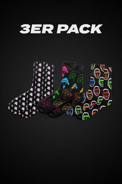 CRAZY SHUUK SOCKS 3er Pack